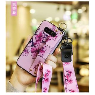 Ốp Lưng Mềm Có Dây Đeo Tay Cho Samsung S8 S8 + S9 S9 + S10 S10 + A10s S20 Note8 9 10 10 +