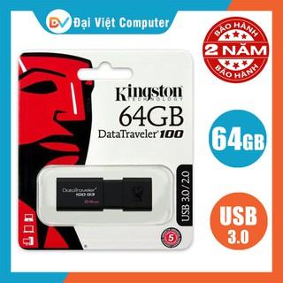 USB kington/Toshiba 64GB 32GB 16GB DT100/DT104 3.0/2.0 – Tem FPT / Vĩnh xuân