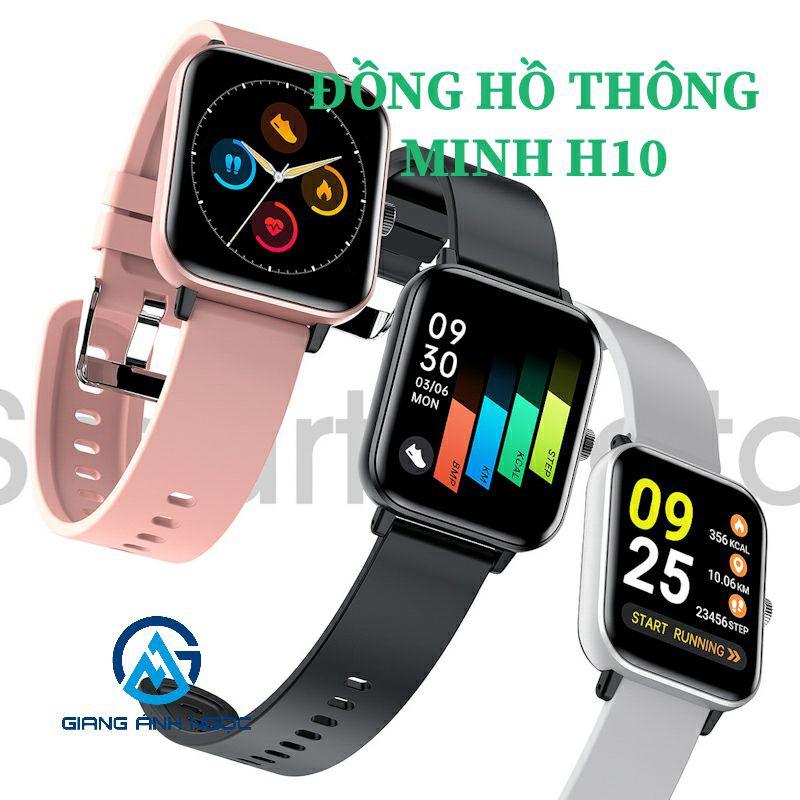 Wow🎃 Đồng hồ thông minh theo dõi sức khỏe H10 chuẩn chống nước IP67 thời trang