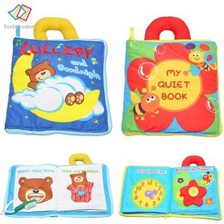 FCD Baby Quiet Book Mobile Lullaby Cloth Book Soft Plush Good Night Early Educational Toys for Toddlers