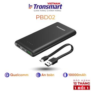 Sạc dự phòng 10000mAh Tronsmart Presto Sạc nhanh QC 3.0 kèm dây Micro USB - Hàng chính hãng - Bảo hành 12 tháng 1 đổi 1