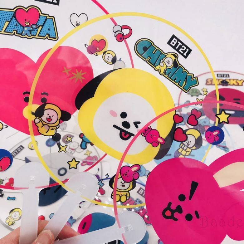 baade Ready Stock] COD BT21 BTS Hand Cartoon Held Fan Cute Mini Handheld Fan