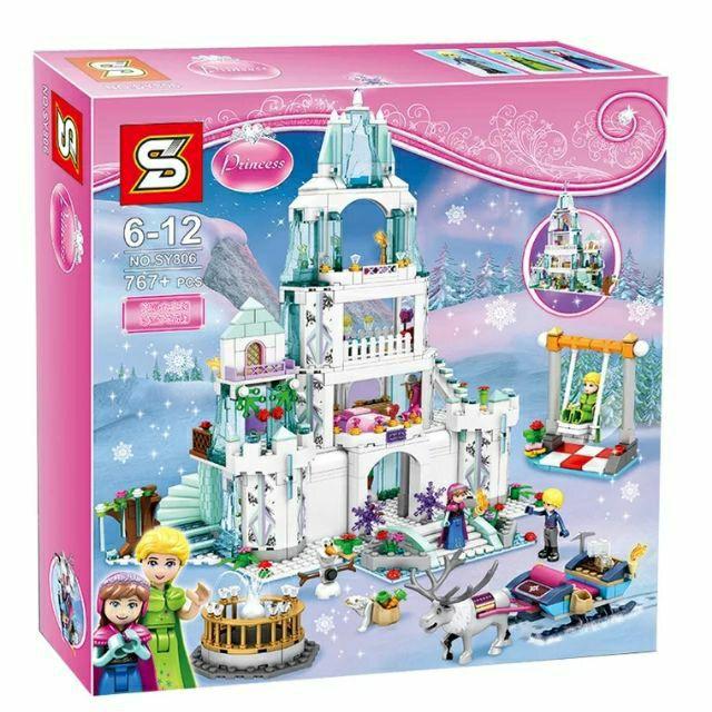 Lắp ráp kiểu lego princess - sy806 lâu đài elsa cỡ lớn