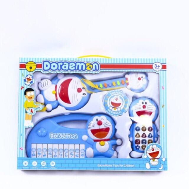 Đồ chơi đàn Doremon cho bé 3 món