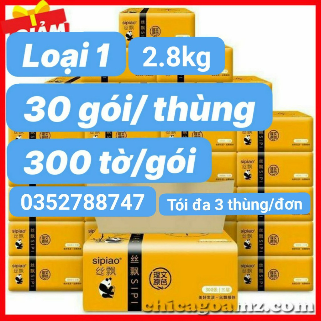 30 gói giấy ăn gấu trúc loại 1- 2.8 kg