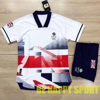 Đồ Đá Banh Nam Nữ Team GB (Anh) Vải Thái Cực Đẹp Cực Sang Hè 2021 - Đồ Đá Banh PP Bởi Be Happy Sport thumbnail