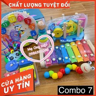 Bộ đồ chơi gỗ thông minh 7 món đồ [ giảm giá ]