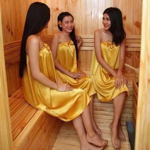 Váy quây phi lụa spa