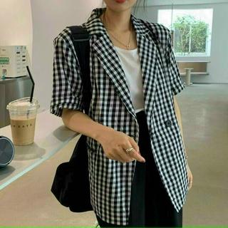 Áo vest họa tiết caro tay ngắn Ngọc Tây Boutique