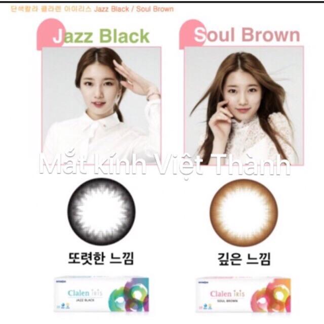 Lens đen 1 ngày có đủ độ chính hãng Hàn Quốc kính áp tròng 1 tuần