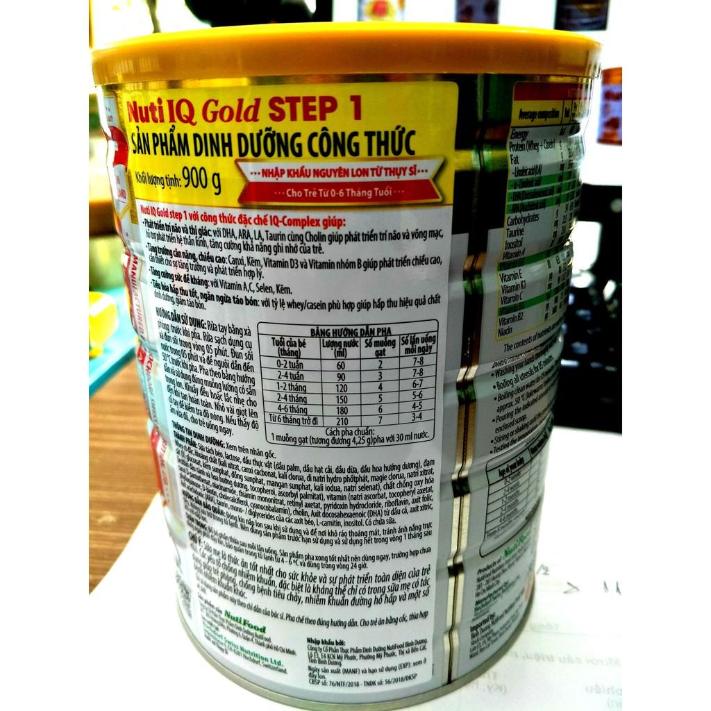 Sữa NutiFood Nuti IQ Gold 1 (900g) 0-6 tháng