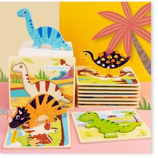 Sản phẩm bằng gỗ 3D câu đố khủng long hoạt hình cho trẻ em