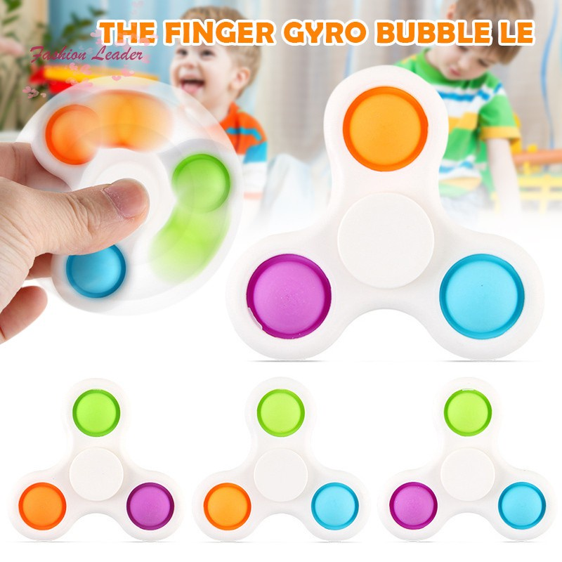 Simple Dimple Creative Fidget Toy Fingertip Spinner Pop Push Bubble Adult and Child Stress Relief Toys