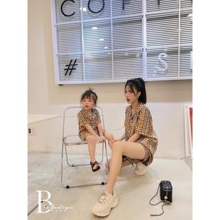 Set áo mẹ và bé hoạ tiết BBR (áo cho bé trai và gái)