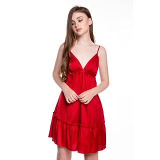 DREAMY VX04 Váy Ngủ Lụa Hai Dây Cao Cấp Dáng Xòe Nhúng Bèo Gợi Cảm thumbnail