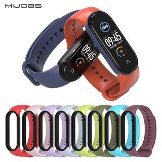 Dây đeo cao su viền đen Mi band 5 chính hãng Mijobs - dây đeo cao su thay thế miband 5, mi band 5 (Mijobs) thumbnail