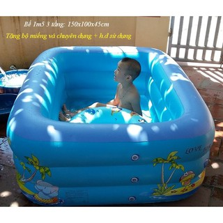 [Trợ giá] Bể bơi phao 1m2, 1m5, 1m8, 2m1, 2m4, 3m05 (Bể bơi bơm hơi hàng Cao cấp) thumbnail
