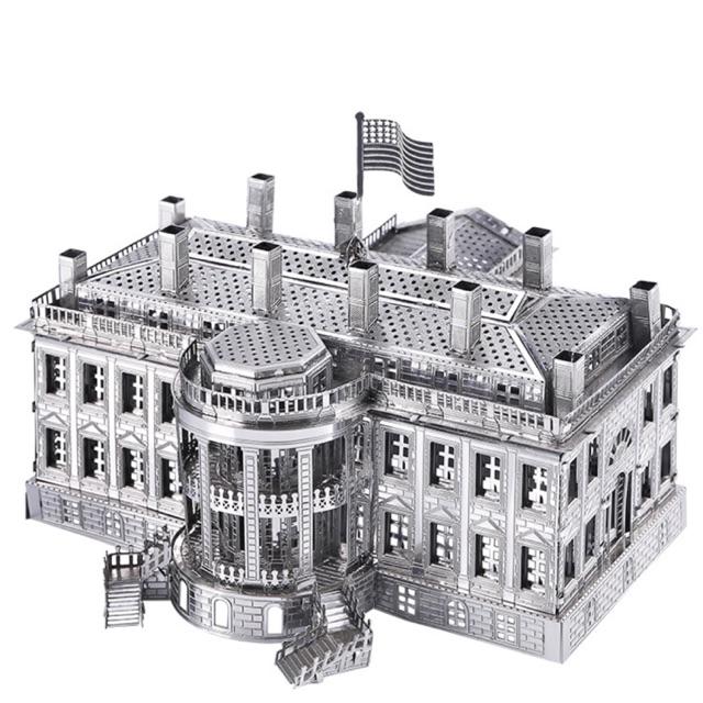📌 (HÀNG CÓ SẴN) Mô hình lắp ghép kim loại 3d Nhà Trắng