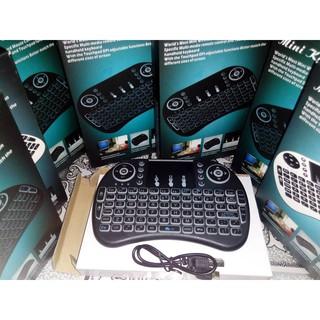 Bàn phím wireless mini cầm tay kiêm chuột cảm ứng UKB 500 CÓ LED
