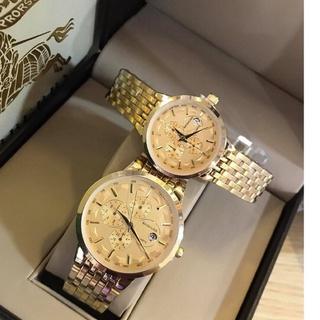 Đồng hồ đôi BAISHUNS dây vàng sang trọng chạy lịch ngày thumbnail