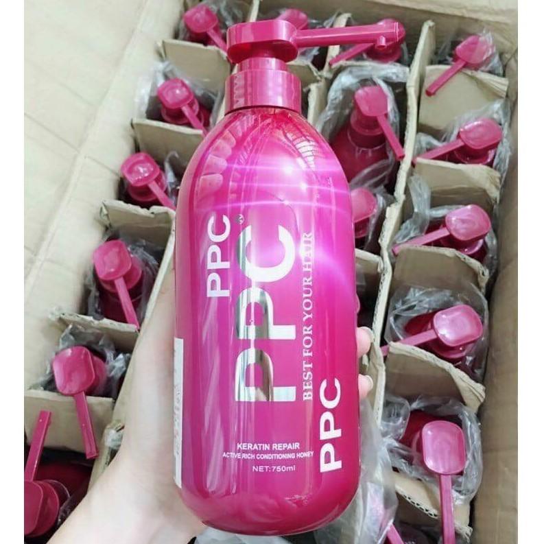 Kem ủ/gội tóc phục hồi hư tổn PPC Keratin 750ml