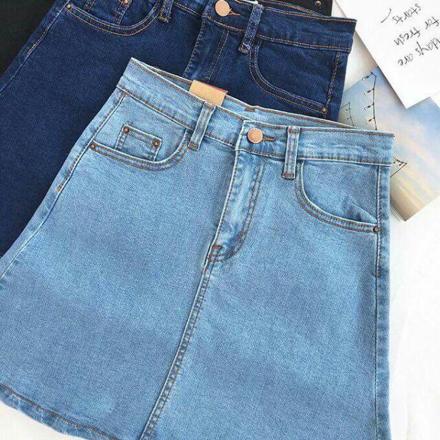 [ GIẢM GIÁ] FREE SHIP Chân váy jeans