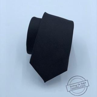 Cà vạt bản nhỏ 5cm , cravat nam mầu đen cao cấp
