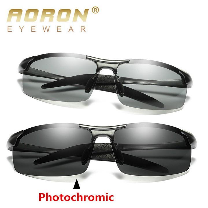 [CHÍNH HÃNG] Kính đi ngày và đêm cao cấp chính hãng AORON A3043 gọng nhôm magiê siêu nhẹ, mắt kính...