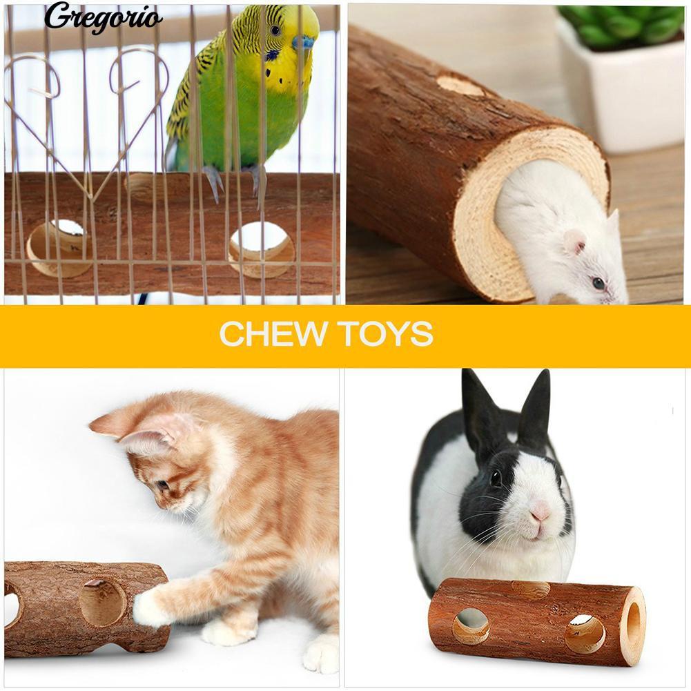 🐥New Pet Hamster Mice Gerbils Wood Tunnel Tube Bird Cat Rabbit Playing Toy