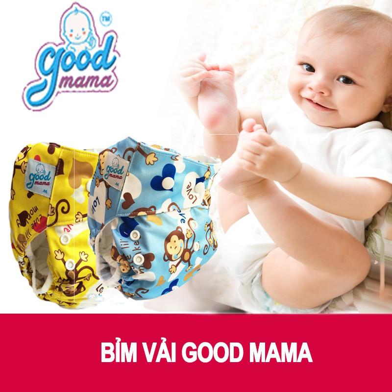 Bỉm vải Goodmama size L(10-20kg) siêu chống tràn cho bé trai