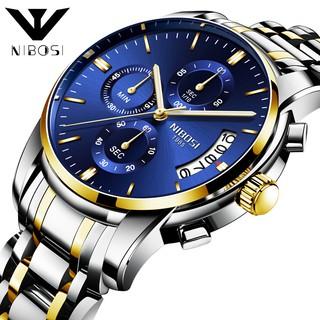 [CÓ VIDEO - ẢNH THẬT] Đồng hồ nam NIBOSI 2353 dây thép đúc mẫu mới cải cá tính, mạnh mẽ thumbnail