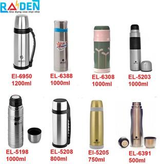 Bình giữ nhiệt inox 304 thiết kế 3 lớp thương hiệu Elmich 500ml, 750ml, 800ml, 1000ml, 1200ml
