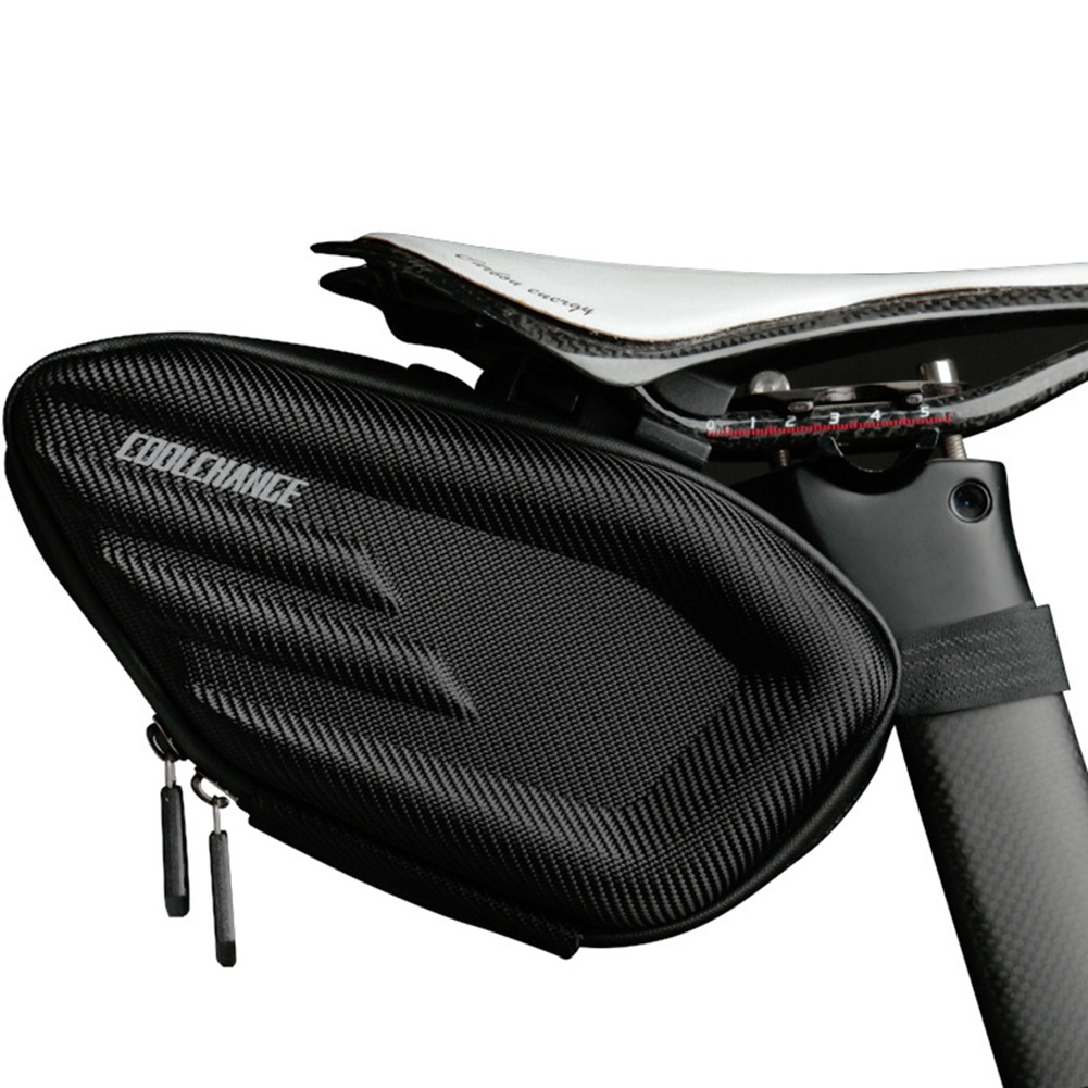 Wear Resistant Hardshell Fabala Outdoor Large Capacity Durable Saddle Bag Zip Closure Waterproof Bicycle Accessory