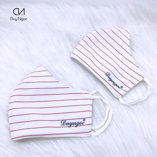 Khẩu Trang Vải Red Line Duy Ngọc Cao Cấp, hàng chính hãng chất liệu vải cotton, 3 lớp dày dặn, chống năng hiệu quả(7444) thumbnail