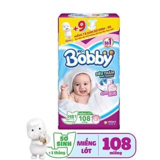 [HÀNG TẶNG]Miếng lót sơ sinh Bobby Nb1-108M NB2-60