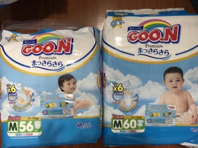 (Mẫu mới cao cấp) Tã quần/ dán Goon Premium : Nb70-S64-M60/56-L50/46-XL46/42-xxl36- Thái Lan