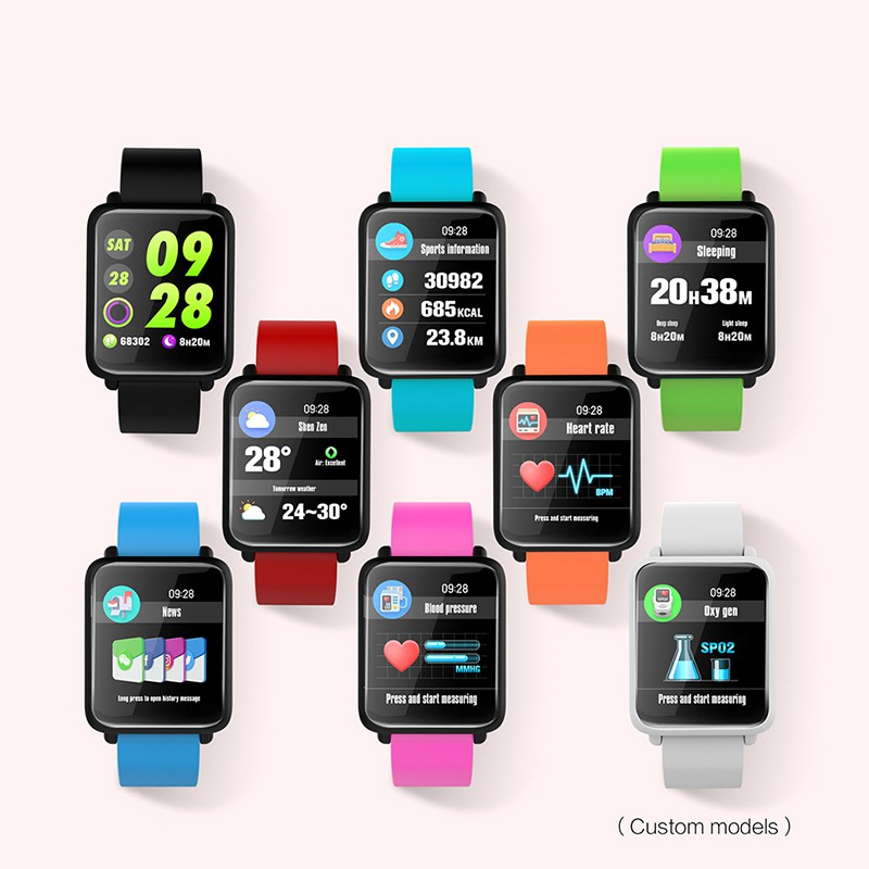 New Smart Watch Activity Tracker Heart Rate Monitor Blood Pressure Blood Oxygen