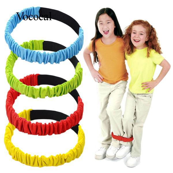 4 PCS Assorted Color Elastic 3-Legged Race Bands Tie Rope