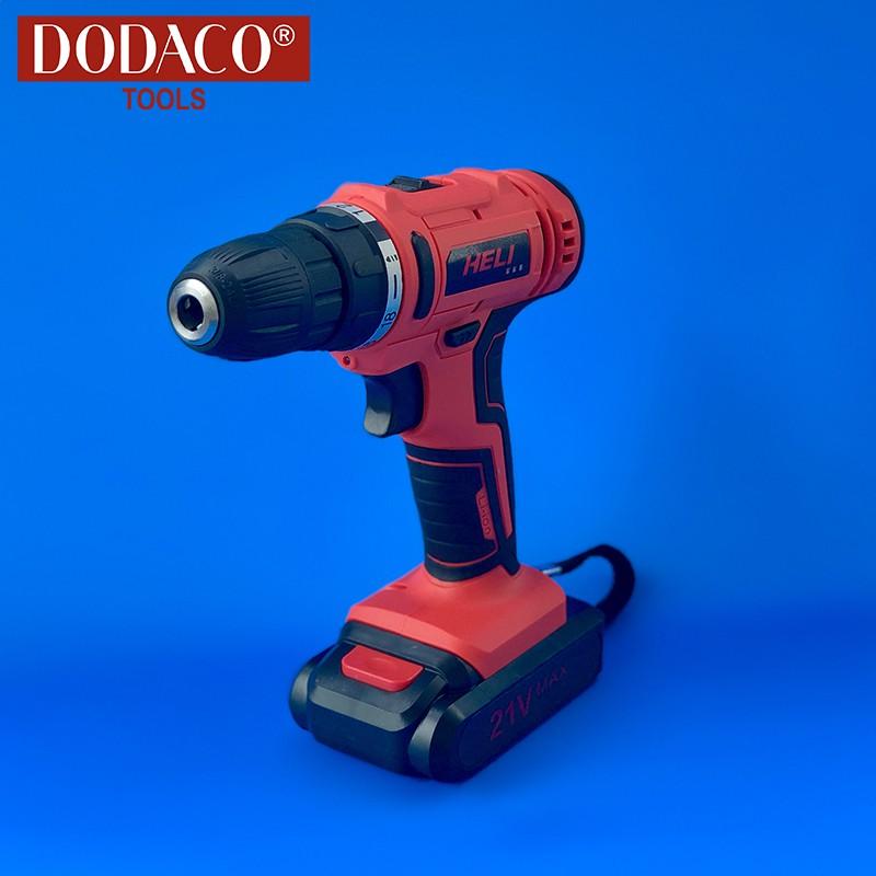 [Freeship] - Máy khoan vặn vít dùng pin DODACO DDC3203 - HELI - 21V - 20 x 20 x 10cm (Đỏ)