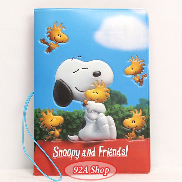 Vỏ hộ chiếu Passport Snoopy and Friends 3D