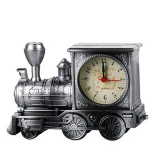 Đồng hồ điện tử để bàn thời trang bằng nhựa hình tàu hỏa cổ điển sang trọng trang trí phòng ngủ khách