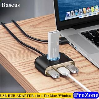 [Mã ELFLASH5 giảm 20K đơn 50K] USB HUB ADAPTER chuyển đổi Baseus 4 in 1 SQUARE ROUND Tốc độ chuyền dữ liệu 5Gbps