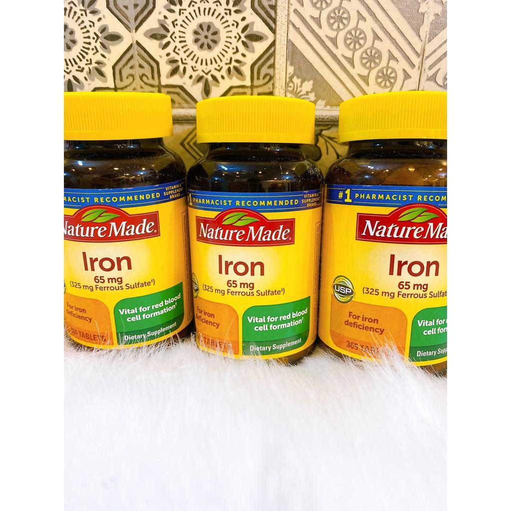 Viên Sắt Nature Made Iron 365 Viên nhập khẩu