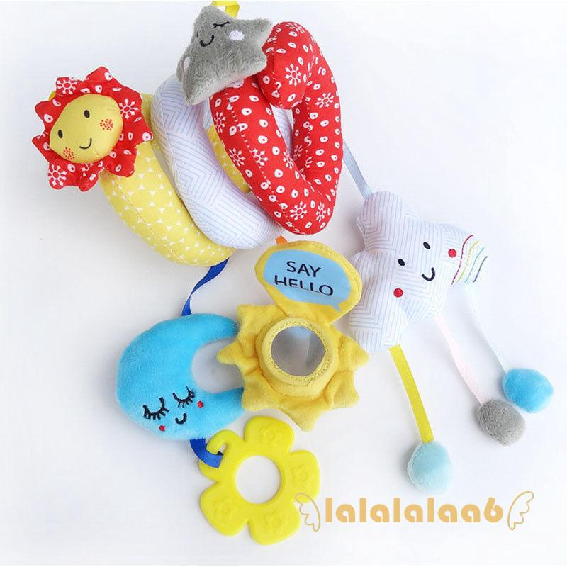 LAA-Cute Animals Toys Baby Newborn Plush Toys Sound Development Teether Rattle