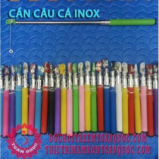 HOT Cần câu cá nhựa gắn nam châm cho trẻ em bằng Inox