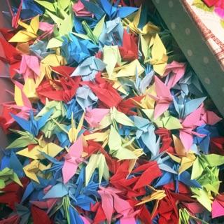 1000 hạc giấy gấp sẵn