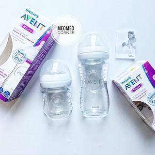 [Sản xuất tại Pháp]Bình sữa thủy tinh Avent Natutal 120ml 240ml thumbnail