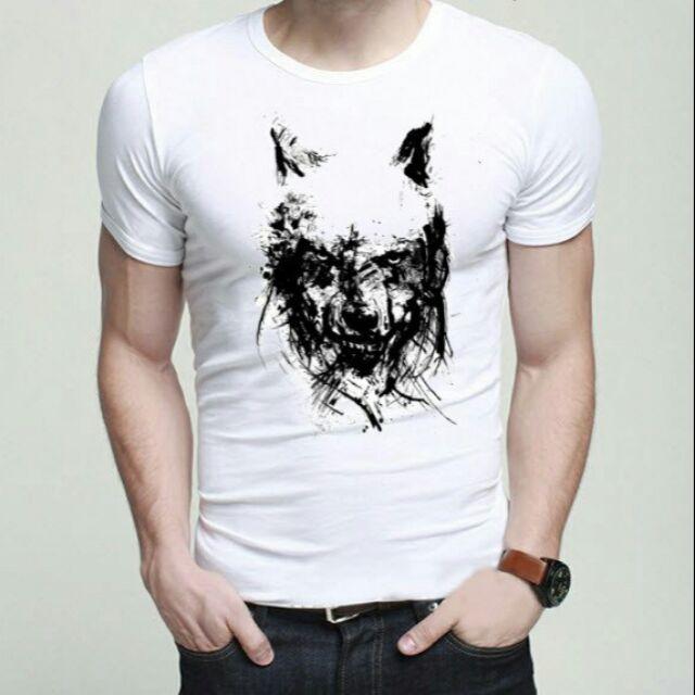 Áo thun cotton nam in hình 3D