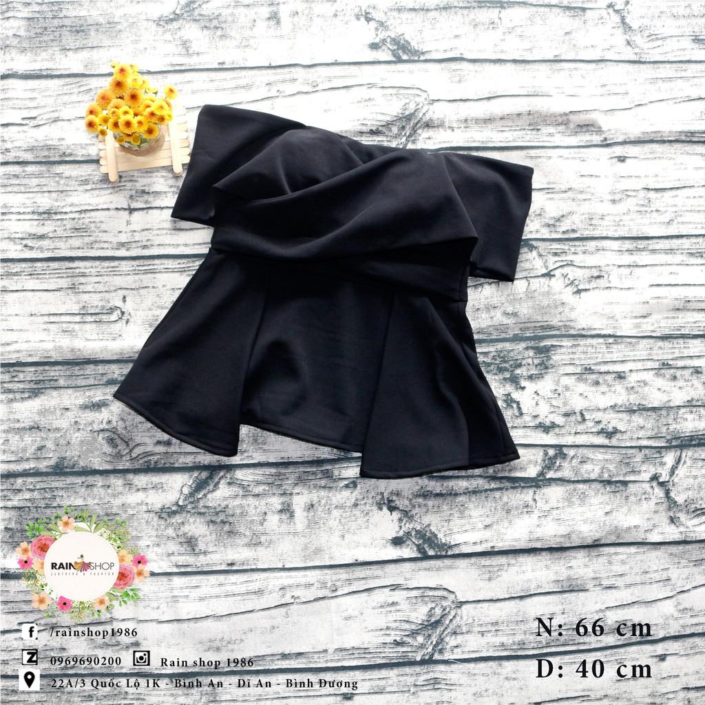 Áo bẹt vai thời trang - Đen - rainsho