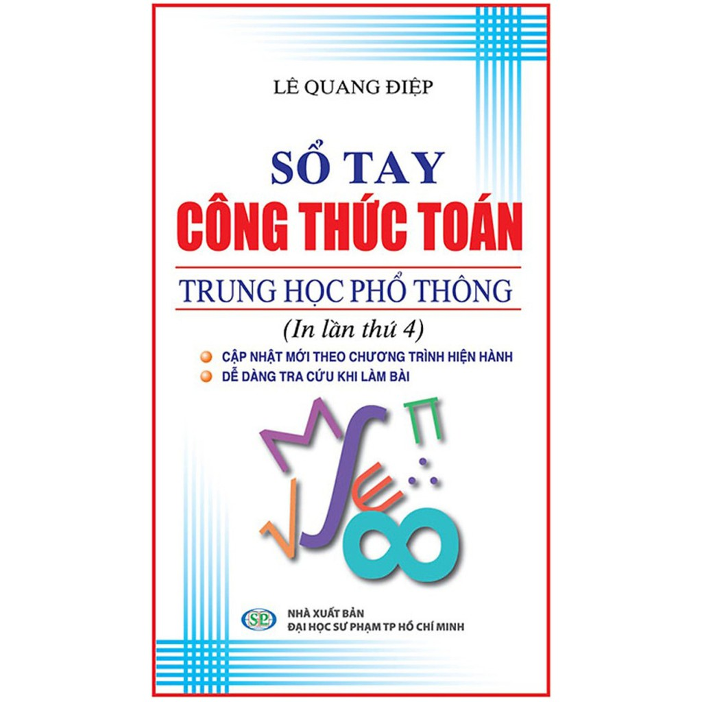 Sách - Sổ Tay Công Thức Toán THPT | Shopee Việt Nam
